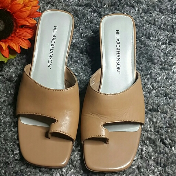 Hillard & Hanson Shoes - Hillard &  Hanson keira leather mules 9